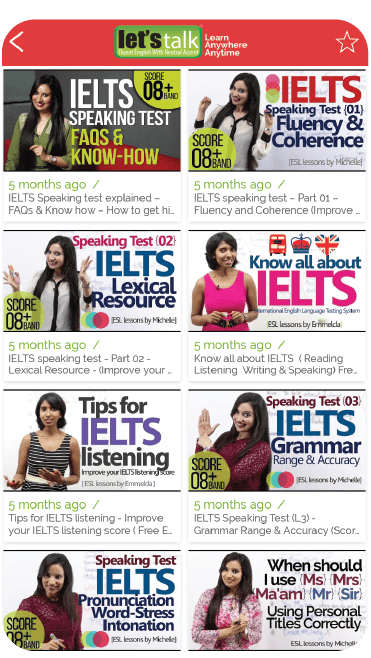 English learning Android & Apple Mobile app - Let's Talk